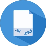consegniamo un file pdf ad alta risoluzione, un file in formato Adobe Illustrator ed un file in formato Photoshop